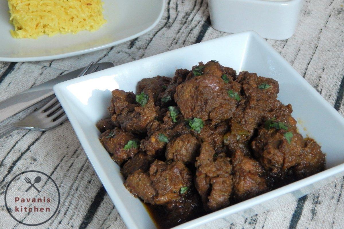 Semi-Gravy Mutton Curry