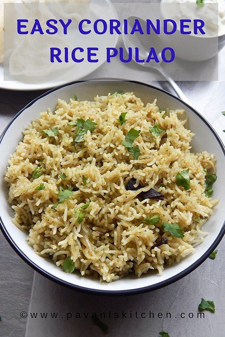 Coriander Rice Pulao