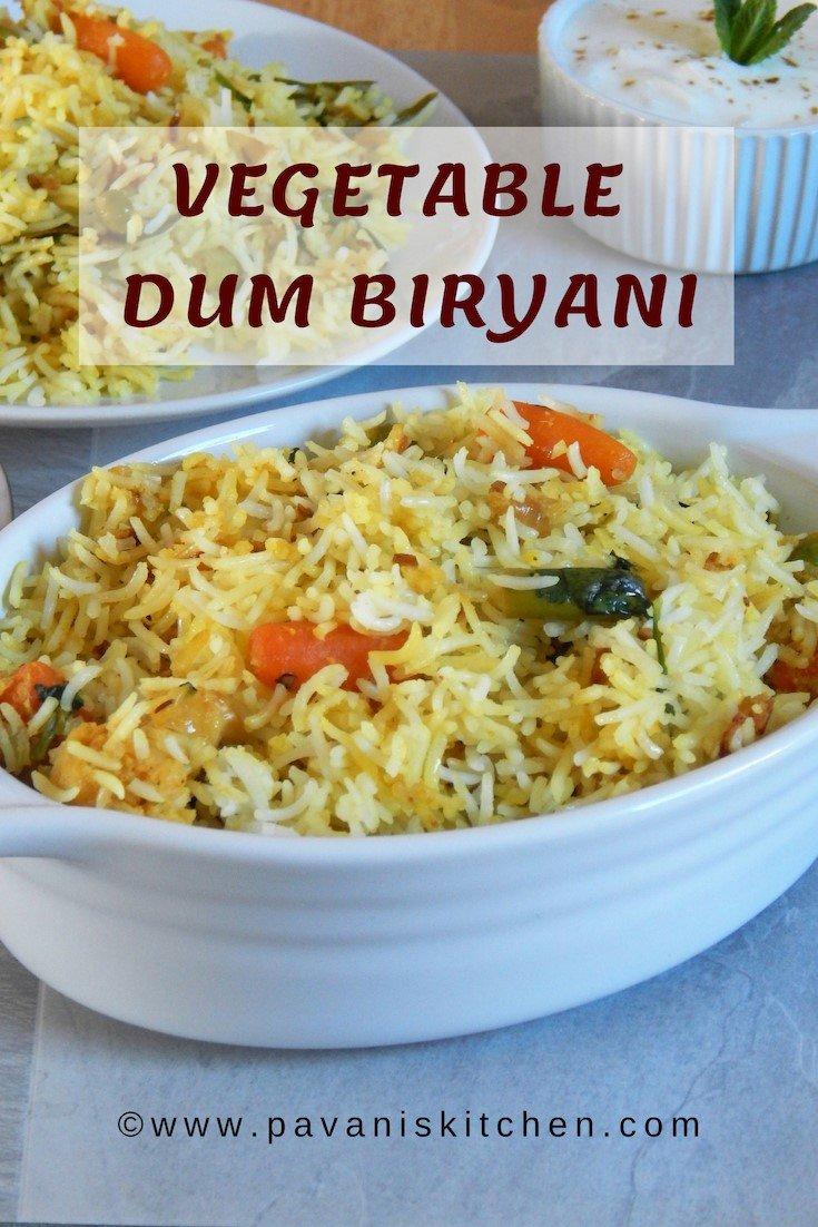 Vegetable Dum Biryani