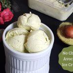 No Churn Avocado Ice Cream