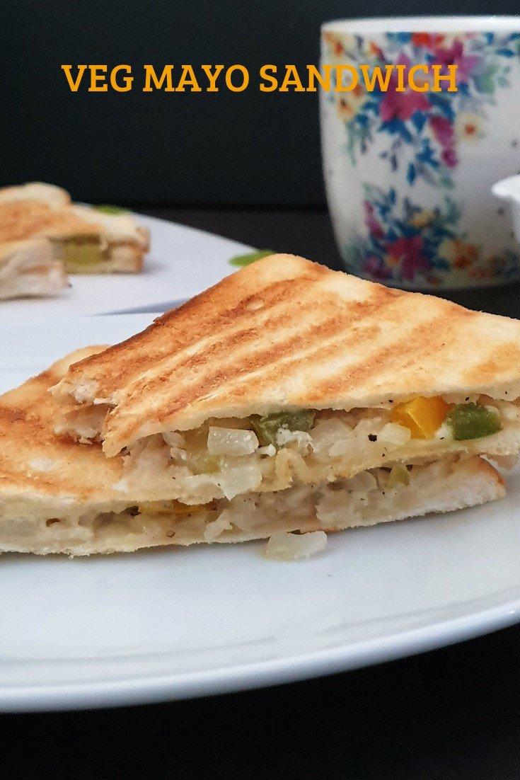 Veg Mayonnaise Sandwich Recipe