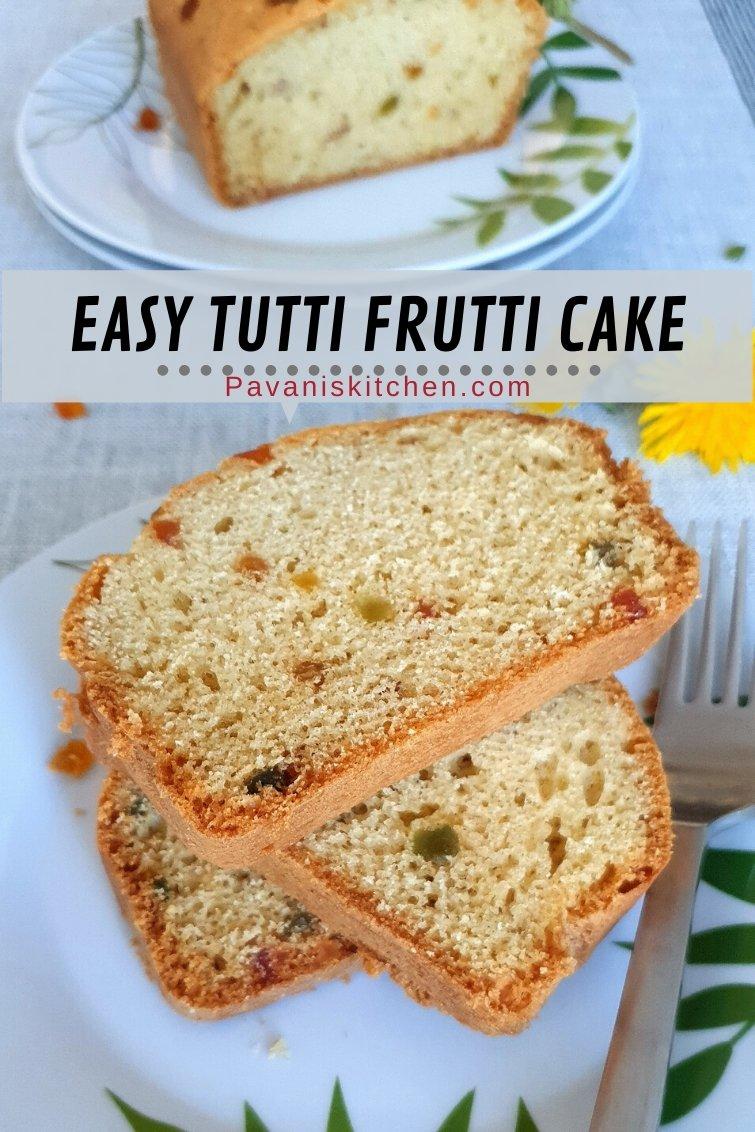 Easy Tutti Frutti Cake