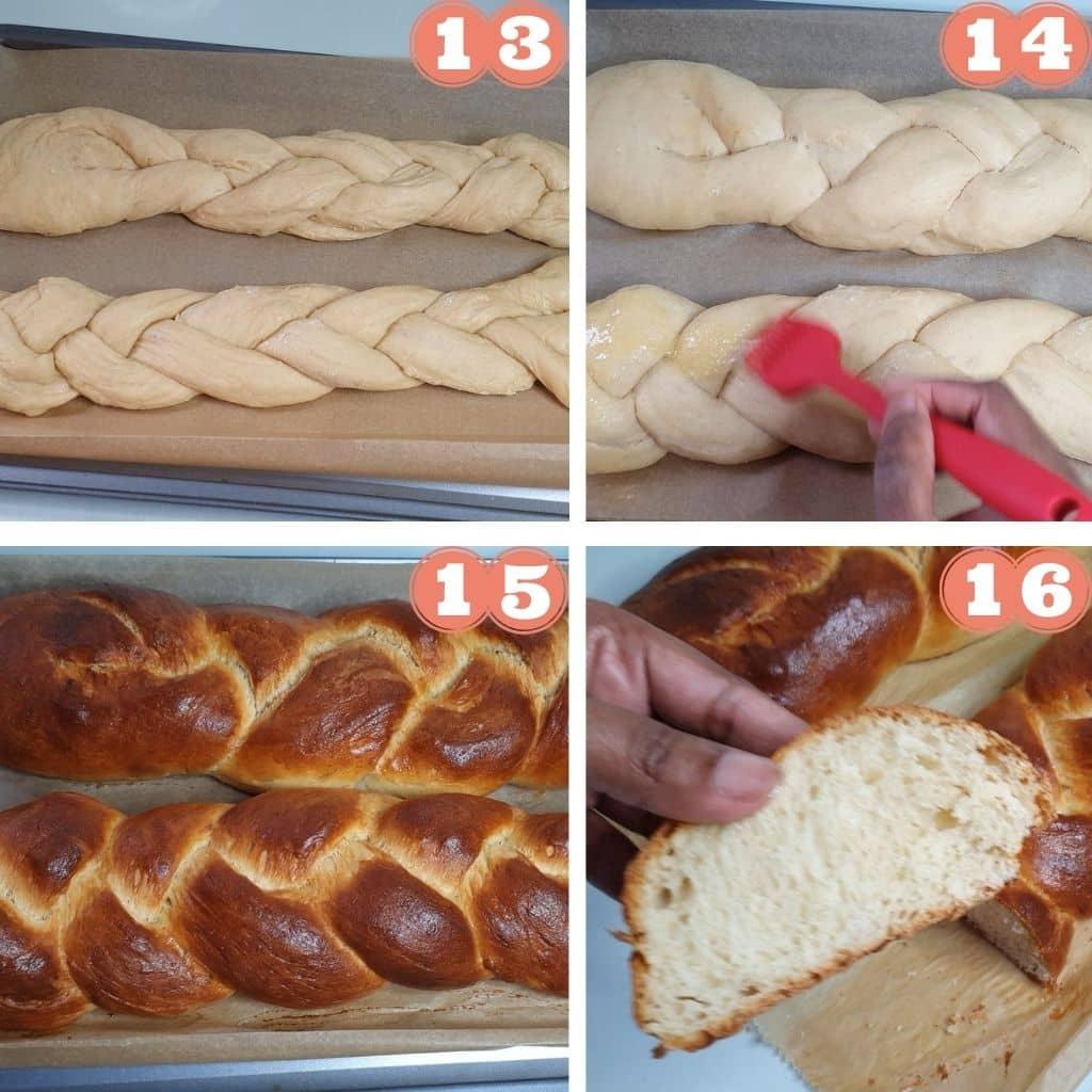 sweet braided easter bread