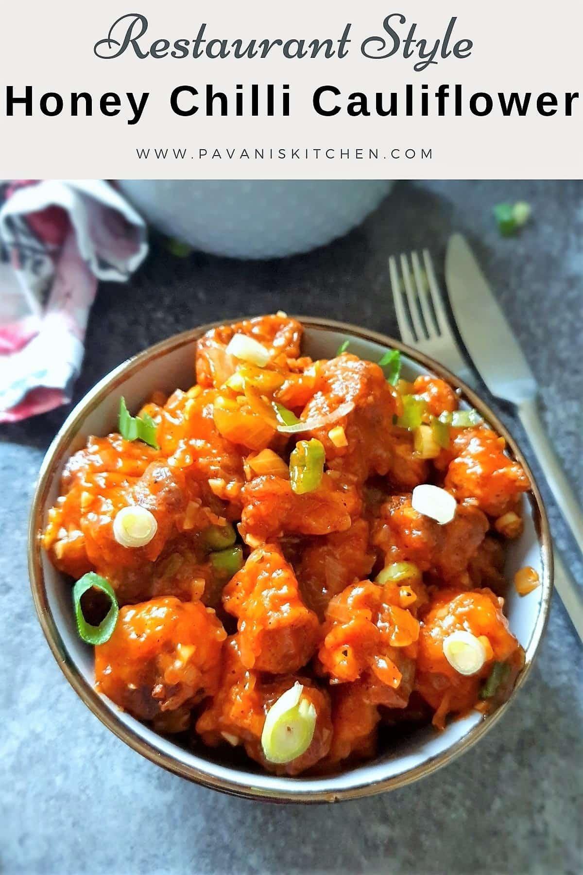 honey chilli cauliflower