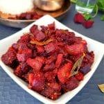 south Indian beetroot stir fry
